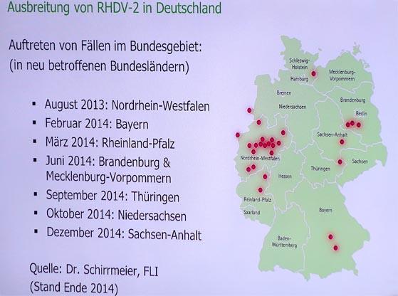 Rasante Ausbreitung der neuen RHD-2-Form