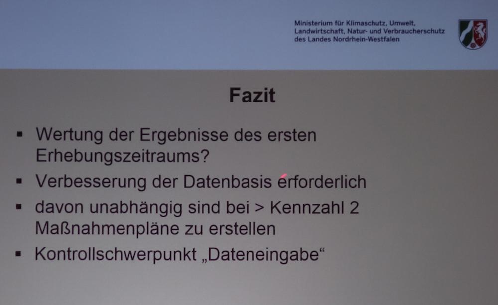 Diese Konsequenzen zieht NRW aus den Fehlern der ersten AMG-Erhebung. (© MKULNV-NRW)