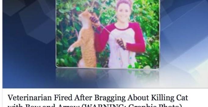 Tierärztin erlegt Katze und prahlt damit auf facebook. (©screenshot Facebook-Gruppe