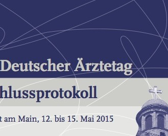 Titelblatt des Beschlussprotokolls des 118. Deutschen Ärztetages. (© Bundesärztekammer)