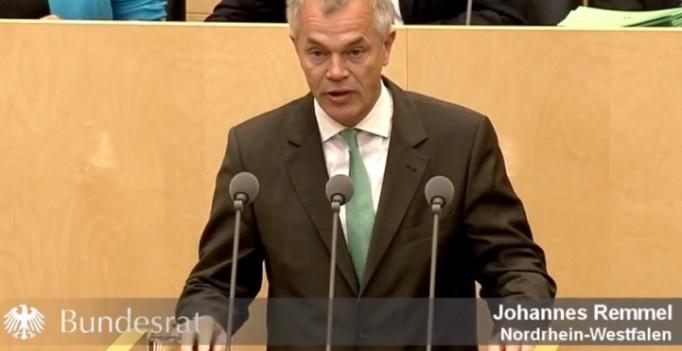 Kükentötung gesetzlich verbieten – NRW-Minister Johannes Remmel im Bundesrat. (Foto: ©screenshot Bundesratsrede)