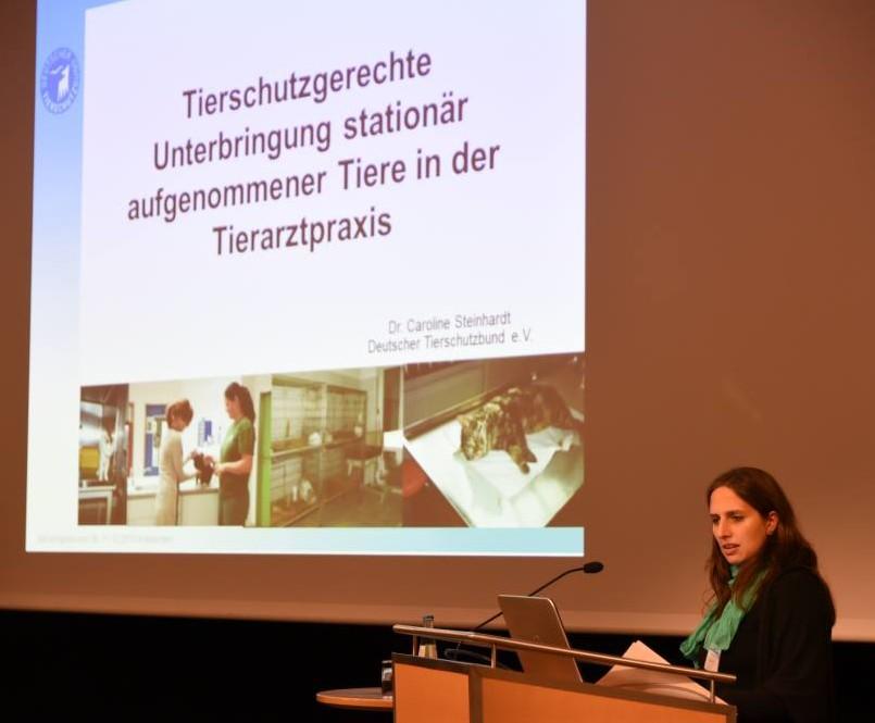 """Mehr Tierschutz in der Tierarztpraxis"""" – wie es geht, sagt Caroline Steinhart vom Deutschen Tierschutzbund. (Foto: © WiSiTiA/hh)"""