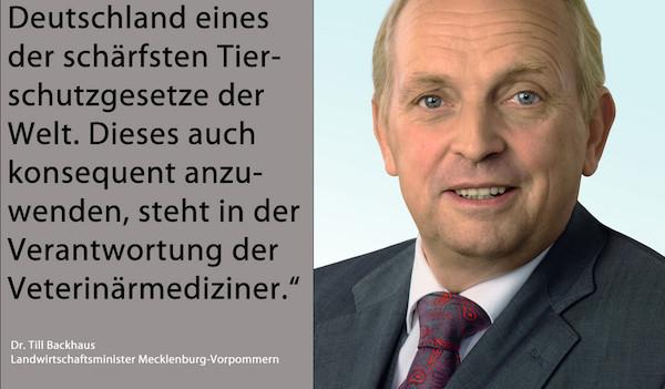 Forderung an Tierärzte – Dr. Till Backhaus, SPD-Agrarminister in Mecklenburg-Vorpommern. (Foto: © Landesregierung Mecklenburg-Vorpommern / Montage WiSiTiA/jh)