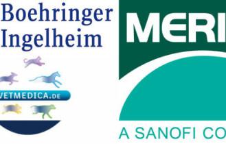 Zusammenschluss geplant: Boehringer Ingelheim Vetmedica will Merial integrieren. (Logos: ©Boehringer Ingelheim/Merial/Sanofi – Montage: WISiTiA/jh)