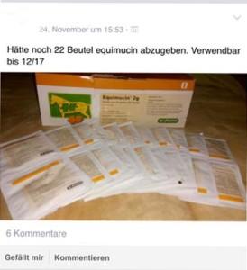 """""""Equimuzin abzugeben"""" (Screenshot Facebook)"""