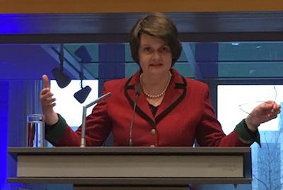 """""""Der EU keine Argumente liefern"""" – Dr. Maria Flachsbarth, Staatssekretärin im Bundeslandwirtschaftsministerium, warnt vor Forderung nach GOT-Erhöhung. (Foto: © WiSiTiA/jh)"""
