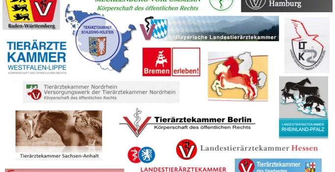 Logos der 17 Landestierärztekammern
