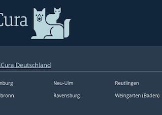 Die offiziellen AniCura-Standorte zum 2. Februar 2016. (Foto: screenshot ©Webseite AniCura Deutschland)