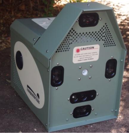 Die Laserfalle: Vier Sensoren identifizieren , ob das Tier eine Katze ist – dann wird automatisch Gift versprüht. (Foto: © ecologicalhirizons)