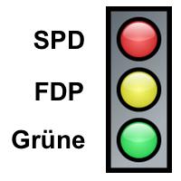 SPD-FDP-Grüne – Ampelkoalition in Rheinland-Pfalz.