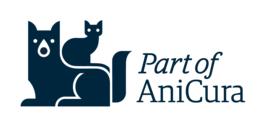 Part off AniCura-Logo – das Kennzeichen für zur Klinikkette gehörende Unternehmen. (© AniCura Group)