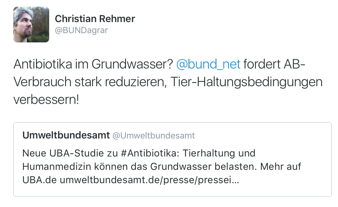 BUND-Interpretation der UBA-Grundwasserstudie (screenshot twitter)