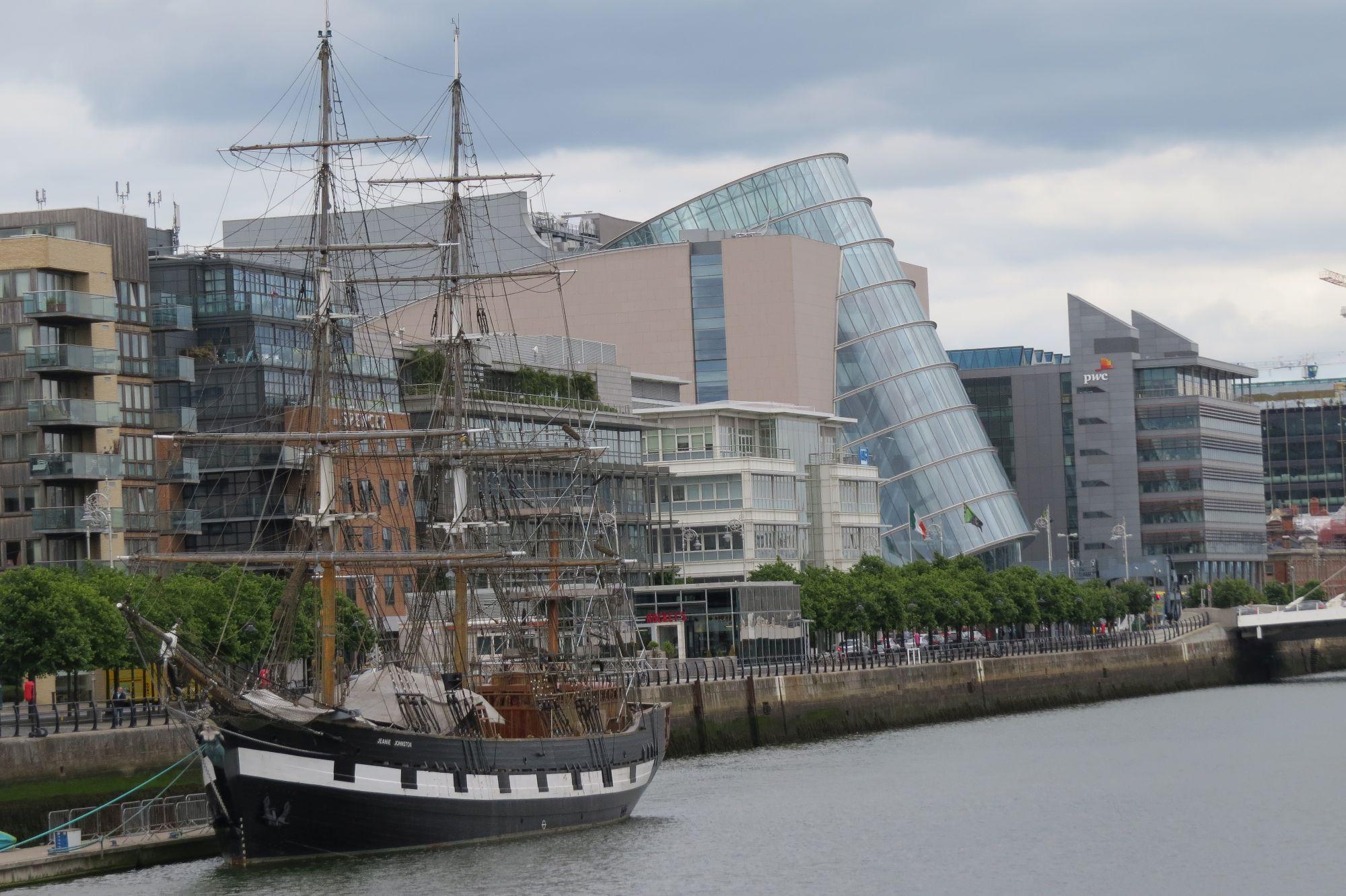 Das CCD (Convention Centre Dublin) Außenansicht