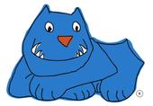 Der Blaue Hund – Logo des Präventionsprogramms für Hundebisse.