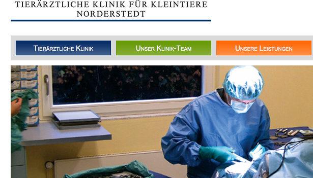 Gehört jetzt zur schwedischen Klinikkette Evidensia: Die Tierklinik Norderstedt. (Foto: © Screenshot Webseite Tierklinik Noderstedt)
