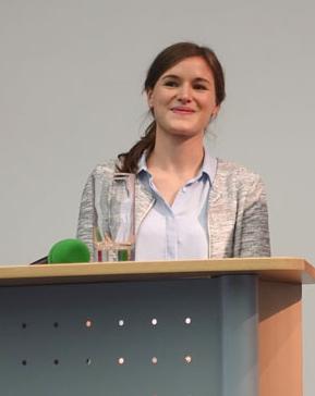 Johanna Kersebohm stellte erste Daten aus ihrer aktuelle Tierartumfrage vor. (Foto: © WiSiTiA/Henrik Hofmann)