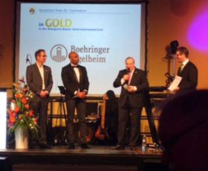 """Gold für den """"Besten Unternehmensservice"""" ging an Boehringer Ingelheim"""