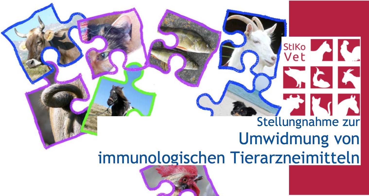 Stellungnahme zur Umwidmung von immunologischen Tierarzneimitteln