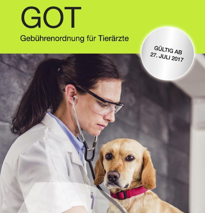 Titelbild der tierärztlichen Gebührenordnung 2017
