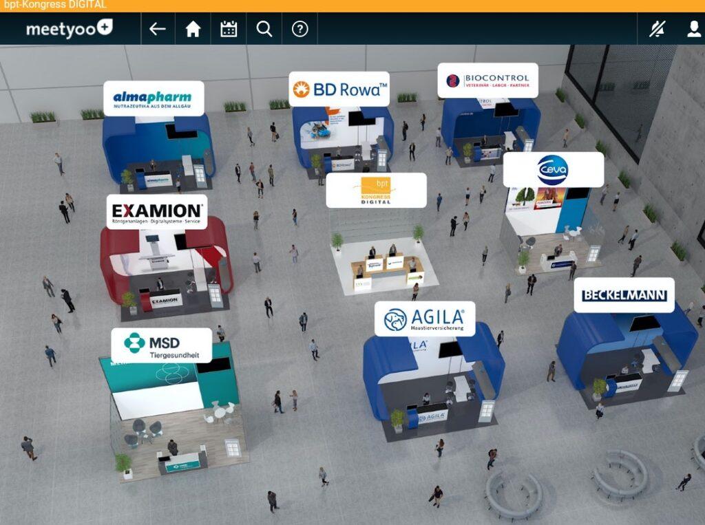 virtuelle Messehalle bpt Kongress 2020 Digital