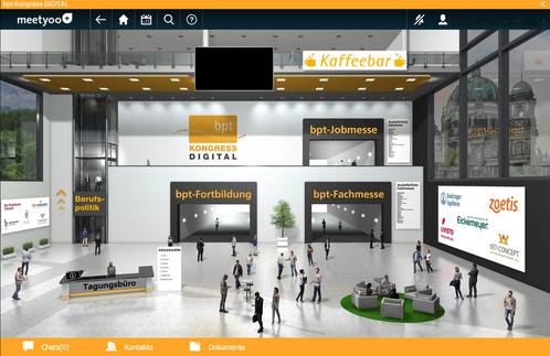 Virtuelle Eingangshalle bpt Kongress 2020